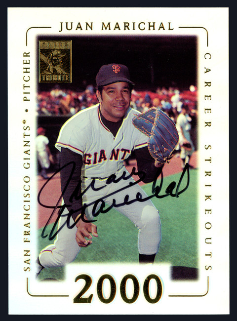 Juan Marichal Autographed 2002 Topps Tribute Card #45 San Francisco Giants Stock #152113