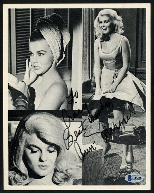 """Ann Margret Autographed 8x10 Photo Actress """"To Craig Best Wishes"""" Beckett BAS #H44386"""