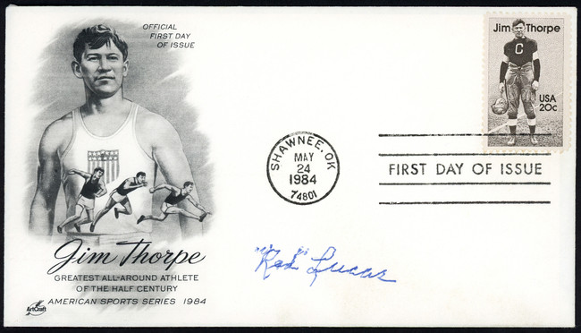 Red Lucas Autographed First Day Cover New York Giants SKU #154006