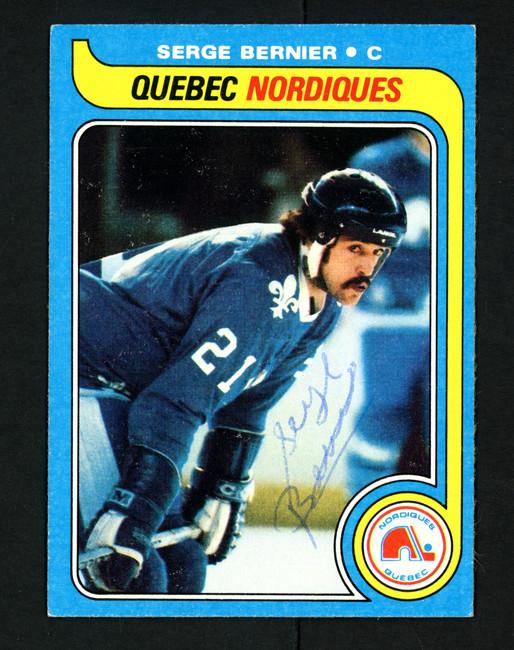 Serge Bernier Autographed 1979-80 Topps Card #47 Quebec Nordiques SKU #154298