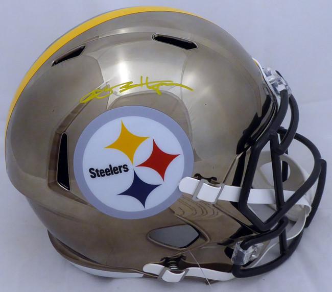 Antonio Brown Autographed Pittsburgh Steelers Chrome Full Size Speed Replica Helmet Beckett BAS #F86018