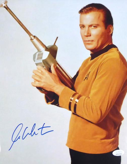 William Shatner Autographed 11x14 Photo Star Trek JSA Stock #159197