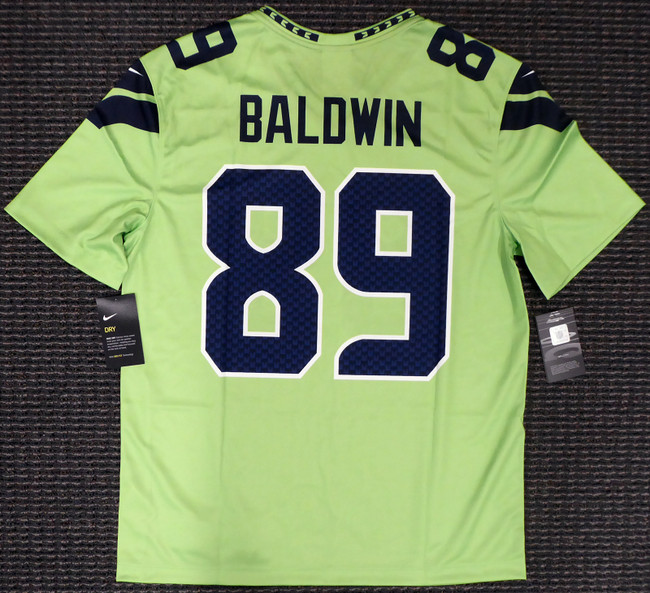 Doug Baldwin Unsigned Seattle Seahawks Action Green Nike Jersey Size XL Stock #159828