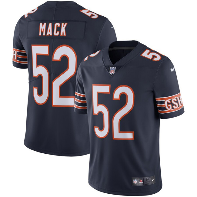 Khalil Mack Unsigned Chicago Bears Blue Twill Nike Size L SKU #159865