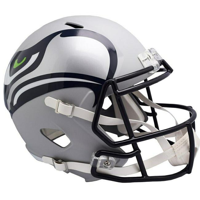 Unsigned Seattle Seahawks AMP Alternate Revolution Full Size Speed Replica Helmet Stock #154961