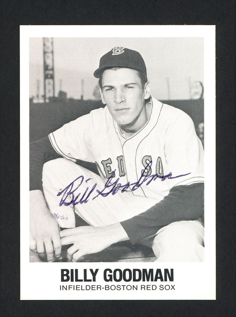 Billy Goodman Autographed 1977 Renata Galasso TCMA Card #21 Boston Red Sox SKU #165723