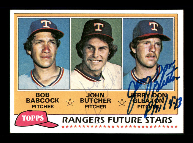 John Butcher & Jerry Don Gleaton Autographed 1981 Topps Rookie Card #41 Texas Rangers SKU #166418