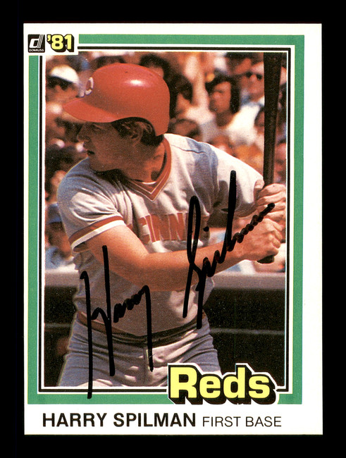 Harry Spilman Autographed 1981 Donruss Card #304 Cincinnati Reds SKU #166491