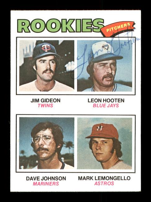 Leon Hooten Autographed 1977 Topps Rookie Card #478 Toronto Blue Jays SKU #166925