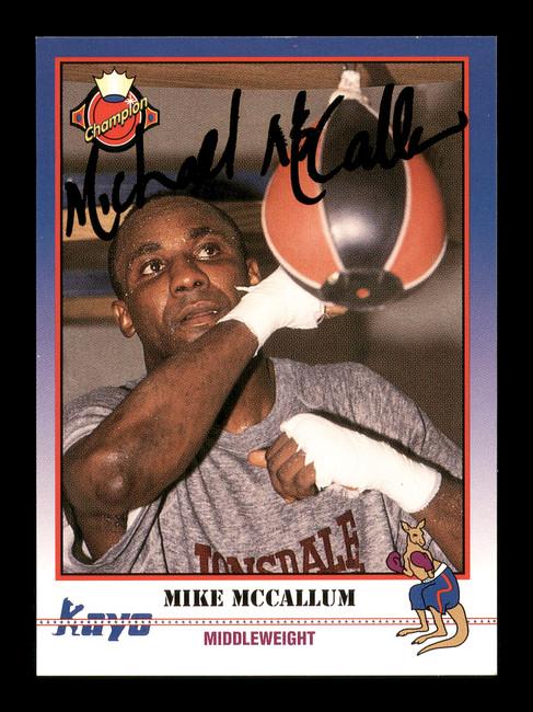 Mike McCallum Autographed 1991 Kayo Card #129 SKU #167237