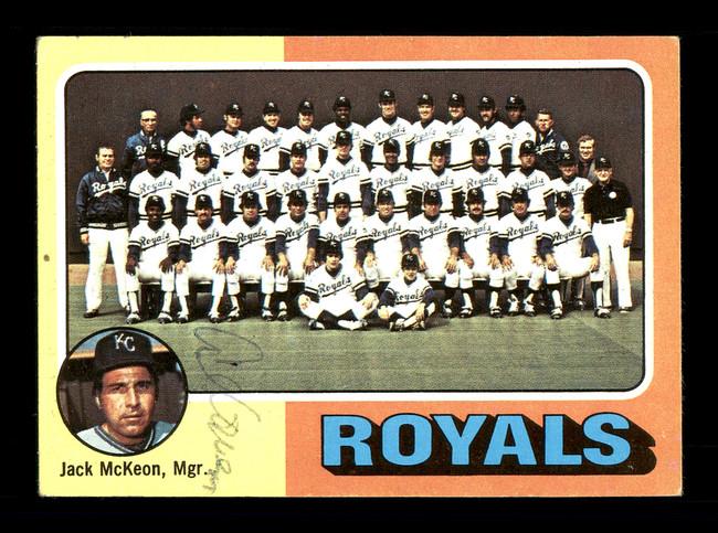 Al Cowens Autographed 1975 Topps Team Card #72 Kansas City Royals SKU #168354