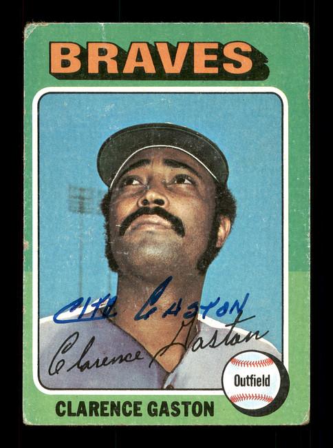 Clarence Gaston Autographed 1975 Topps Card #427 Atlanta Braves SKU #168463