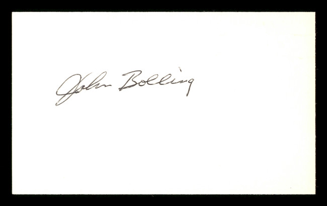 John Bolling Autographed 3x5 Index Card Philadelphia Phillies SKU #174091