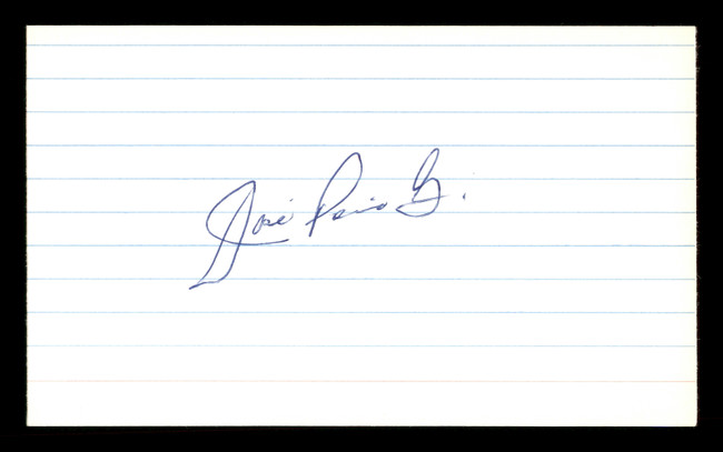 Jose Pena Autographed 3x5 Index Card Cincinnati Reds & Los Angeles Dodgers SKU #174224