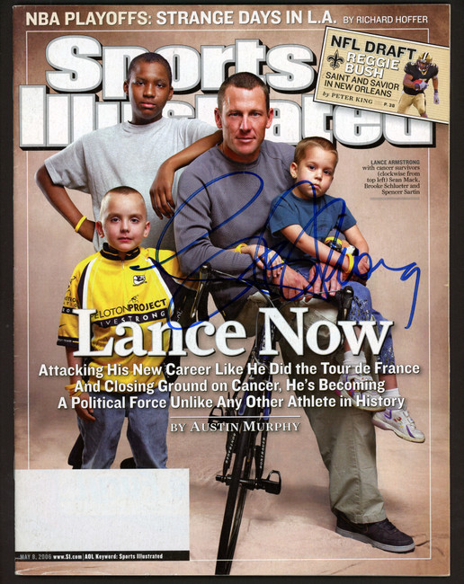 Lance Armstrong Autographed Sports Illustrated Magazine Beckett BAS #A28316