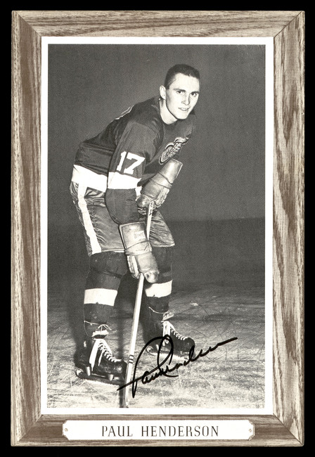 Paul Henderson Autographed 1964-67 Beehive Group 3 4.5x6.5 Photo Detroit Red Wings SKU #176495