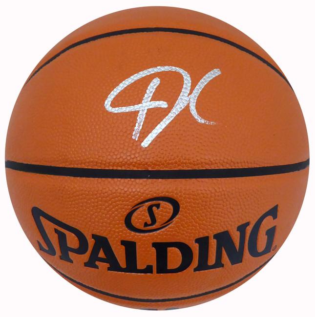Giannis Antetokounmpo Autographed Official Spalding I/O Basketball Milwaukee Bucks Beckett BAS Stock #177450