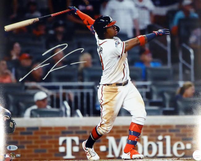 Ronald Acuna Jr. Autographed 16x20 Photo Atlanta Braves Beckett BAS Stock #181322