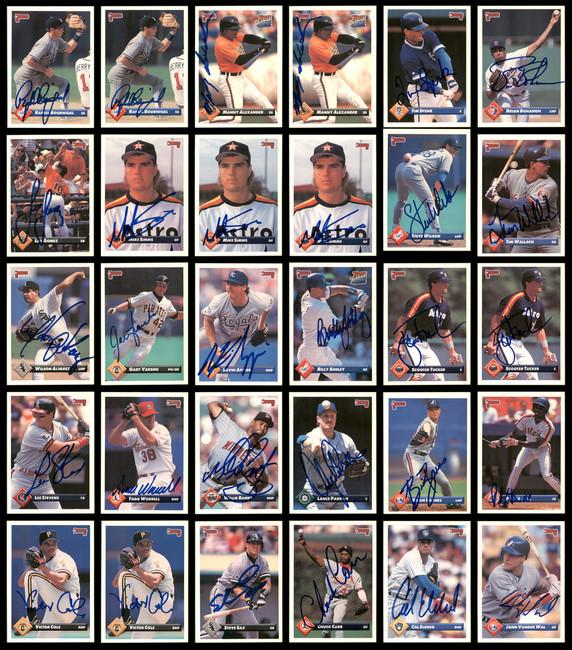1993 Donruss Baseball Autographed Cards Lot Of 141 SKU #185534