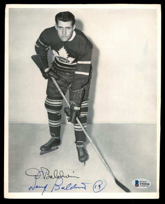 Doug Baldwin Autographed 1945-54 Quaker Oats 8x10 Photo Toronto Maple Leafs Beckett BAS #Y92510