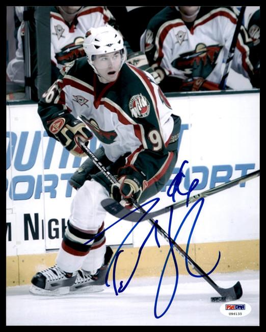 Pierre-Marc Bouchard Autographed 8x10 Photo Minnesota Wild PSA/DNA #U96135