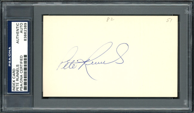 Pete Runnels Autographed 3x5 Index Card Boston Red Sox PSA/DNA #83862389