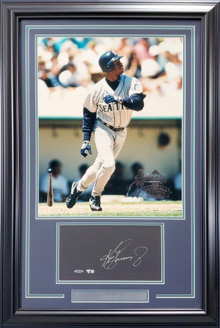 Ken Griffey Jr. Autographed Framed 16x20 Photo Display Seattle Mariners Fanatics Stock #191205