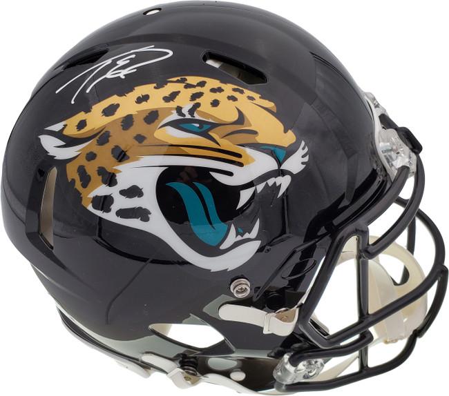 Travis Etienne Autographed Jacksonville Jaguars Black Full Size Authentic Speed Helmet Beckett BAS QR Stock #194880