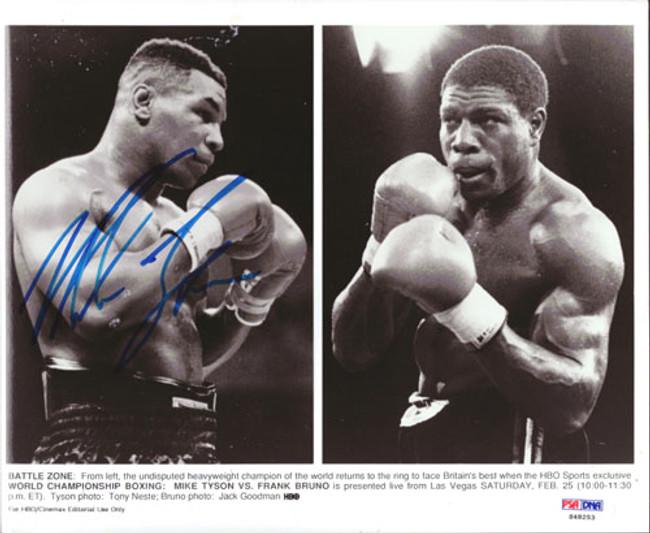 Mike Tyson Autographed 8x10 Photo PSA/DNA #S48253