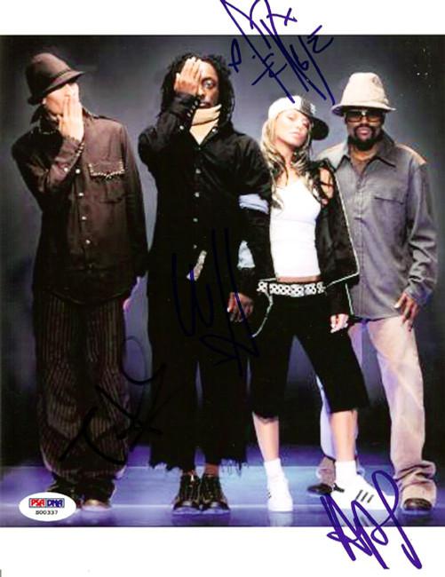 Black Eyed Peas Autographed 8x10 Photo Fergie, will.i.am, Taboo & apl.de.ap PSA/DNA #S00337