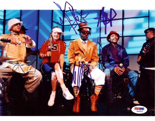 Black Eyed Peas Autographed 8x10 Photo Fergie, will.i.am, Taboo & apl.de.ap PSA/DNA #S00403