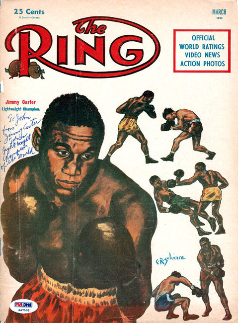 """Jimmy Carter Autographed The Ring Magazine Cover """"To John"""" PSA/DNA #S47502"""