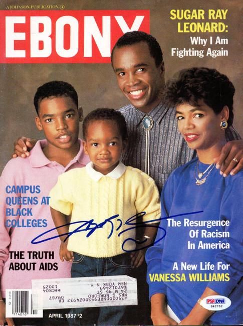 Sugar Ray Leonard Autographed Magazine Cover PSA/DNA #S42752