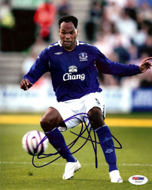 Joleon Lescott Autographed 8x10 Photo Everton PSA/DNA #U54227