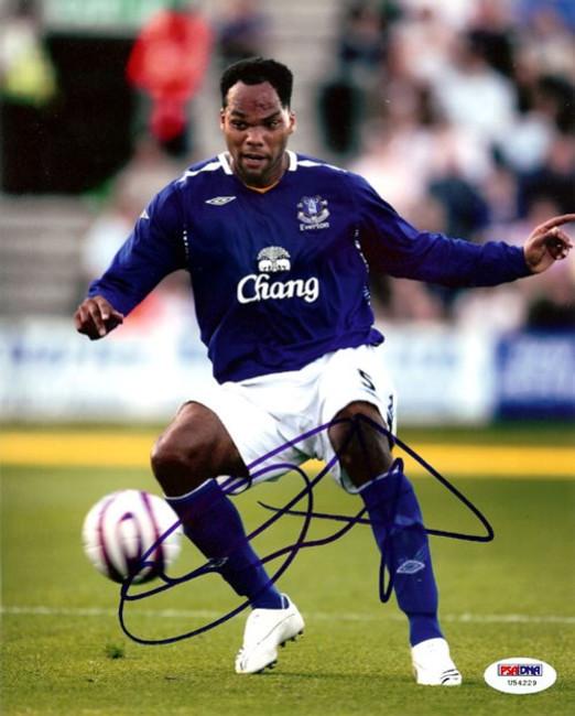 Joleon Lescott Autographed 8x10 Photo Everton PSA/DNA #U54229