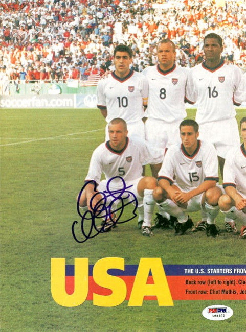 Clint Mathis Autographed Magazine Poster Team USA PSA/DNA #U54372