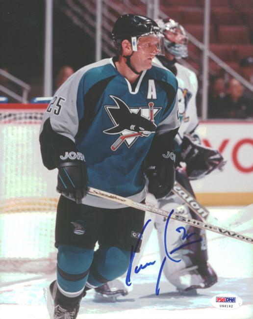 Vincent Damphousse Autographed 8x10 Photo San Jose Sharks PSA/DNA #U96192