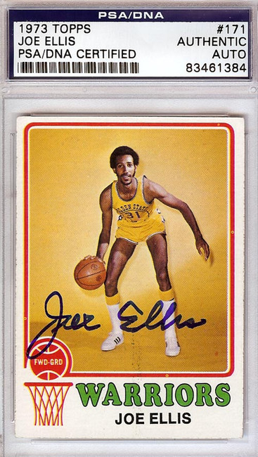Joe Ellis Autographed 1973 Topps Card #171 Golden State Warriors PSA/DNA #83461384