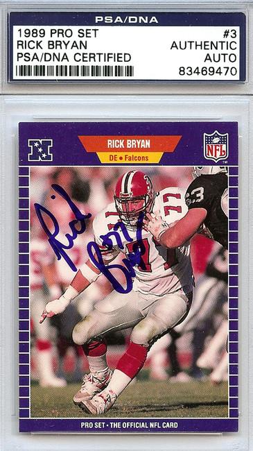 Rick Bryan Autographed 1989 Pro Set Card #3 Atlanta Falcons PSA/DNA #83469470