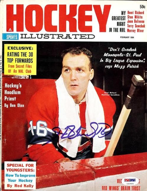 Henri Richard Autographed Hockey Illustrated Magazine Cover Montreal Canadiens PSA/DNA #U93589