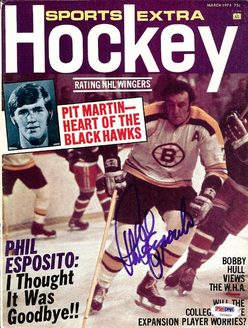 Phil Esposito Autographed Sports Extra Hockey Magazine Cover Boston Bruins PSA/DNA #U93804