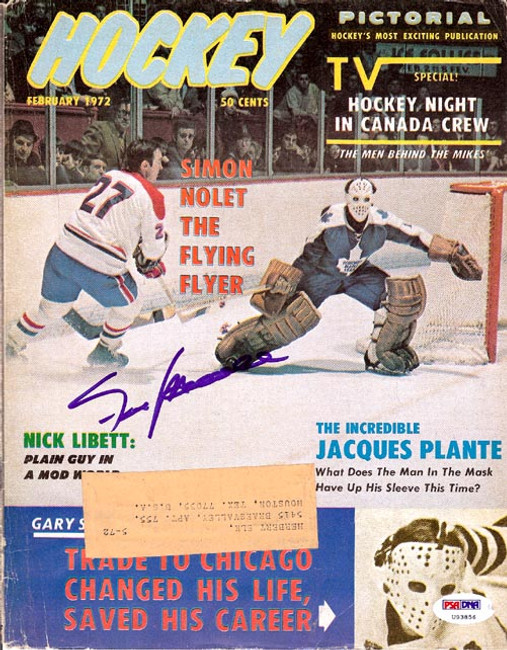 Frank Mahovlich Autographed Hockey Pictorial Magazine Cover Montreal Canadiens PSA/DNA #U93856