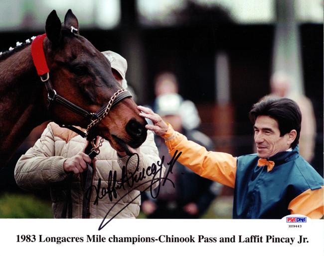 Laffit Pincay Jr. Autographed 8x10 Photo PSA/DNA #X09443