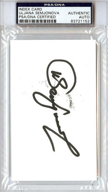 Uljana Semjonova Autographed 3x5 Index Card PSA/DNA #83721152