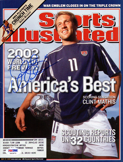 Clint Mathis Autographed Sports Illustrated Magazine Team USA PSA/DNA #X62873