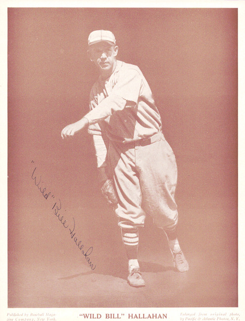Wild Bill Hallahan Autographed M114 Baseball Magazine Page Photo St. Louis Cardinals PSA/DNA #Y05481