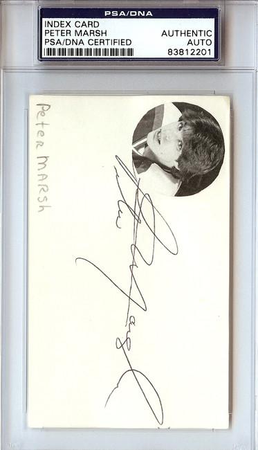 Peter Marsh Autographed 3x5 Index Card PSA/DNA #83812201