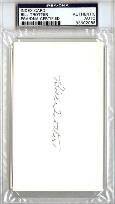 Bill Trotter Autographed 3x5 Index Card Browns PSA/DNA #83602088