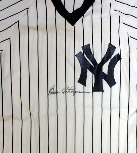 Ben Chapman Autographed New York Yankees Jersey PSA/DNA #W07959