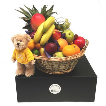 Get Well Basket with Message Bear Get Well Gift · Choose Options. iGift Fruit Baskets - FREE SHIPPING ...